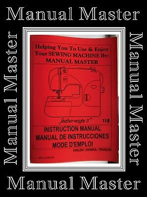 SINGER 118 Featherweight II (2)ZigZag Sewing Machine Instructions Manual Booklet