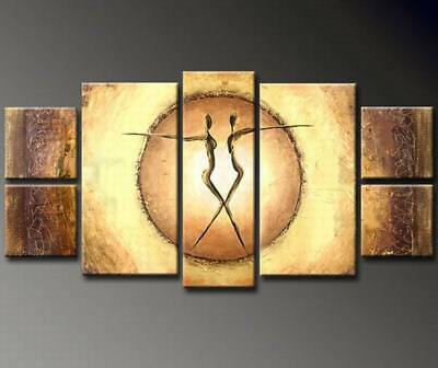 CXJPT721 7pc abstract modern 100% hand painted wall art oil painting on canvas