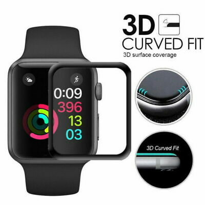 3D Curved Full Cover Tempered Glass Screen Protector for Apple Watch 40 42 44mm