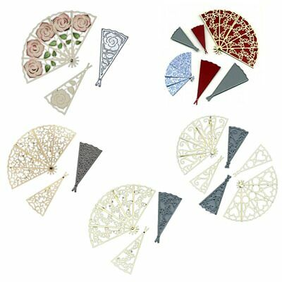 Decorative Fans Metal Cutting Dies Scrapbooking Album Photo Paper Cards Crafts