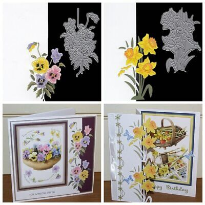 Flower Cards Border Frame Metal Cutting Dies Scrapbooking Cards Paper Crafts