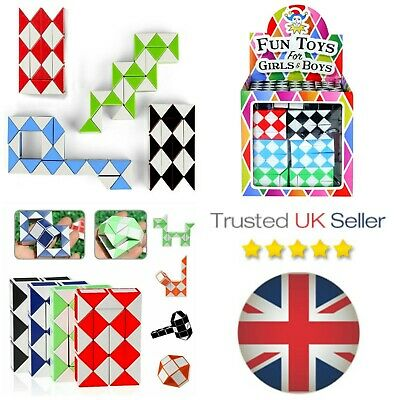 Snake Puzzle Mini Magic Cube Boys Girls Loot Birthday Party Bag Fillers Twist