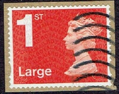 gb stamps security machins SG U3036 1st large vermilion MA14 MBIL; used