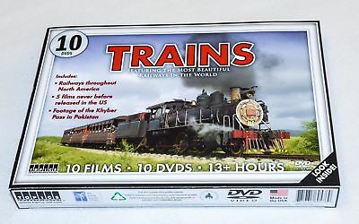 Trains 10 DVDs Featuring The Most Beautiful Railways In The World
