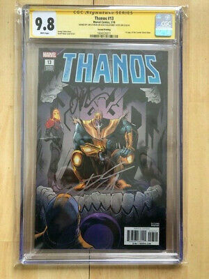 Thanos #13 1st Cosmic Ghost Rider CGC 9.8 signed Donny Cates Jim Starlin
