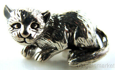 Miniature Sterling Silver Kitty Cat Figurine #85