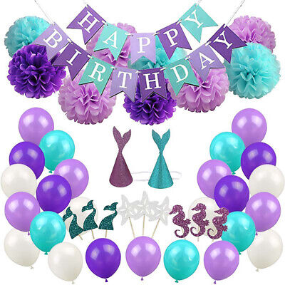 Mermaid Party Decorations And Supplies Baby Shower Birthday Party