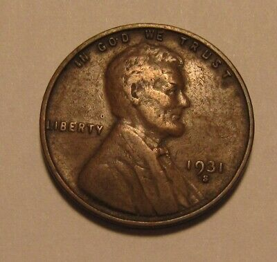 1931 S Lincoln Cent Penny - Very Fine Condition - 18SU