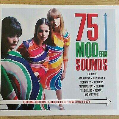 3CD NEW - 75 MODERN SOUNDS - Mod Pop Music 3x CD Album  Supremes Miracles M.Gaye
