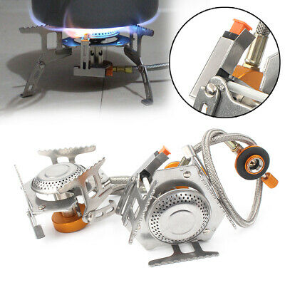 3500W Portable Outdoor Picnic Gas Burner Foldable Camping Mini Steel Stove &Case