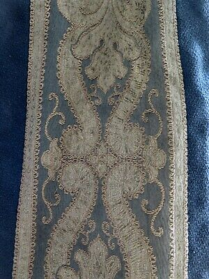 Antique 1800s XL french Curtain Panel Brocade Projects Antik Vorhang Frankreich