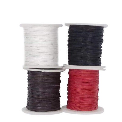 4PC 87 Yd Waxed Cotton Cords String Thread DIY Necklace Bracelet Jewelry 1mm