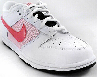 NIKE GIRLS TRAINERS, SHOES, DUNK LOW UK 11 to 2 WHITE