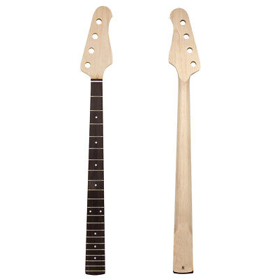 Kmise Electric Bass Guitar Neck for Jazz Bass Parts Maple 21 Fret Bolt On