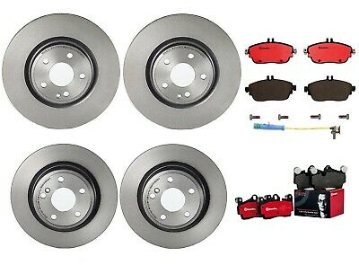 For Mercedes X156 C117 GLA250 Pair Set of Front /& Rear Disc Brake Pads Brembo