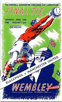 Manchester United FA Cup Final 1948 PROGRAMME - POSTFREE to UK