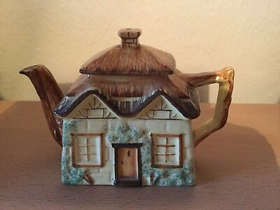 Vintage Keele ST Pottery Cottage Style Teapot Hand Painted