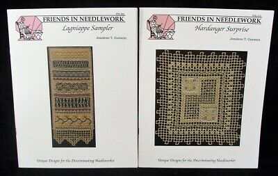 Lot 2 Hardanger Embroidery Patterns LAGNIAPPE SAMPLER & HARDANGER SURPRISE! Look