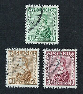 CKStamps: Iceland Stamps Collection Scott#199-201 Used