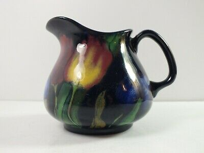 Royal Stanley Pottery Jacobean Ware - Tulips on Blue - Small Jug