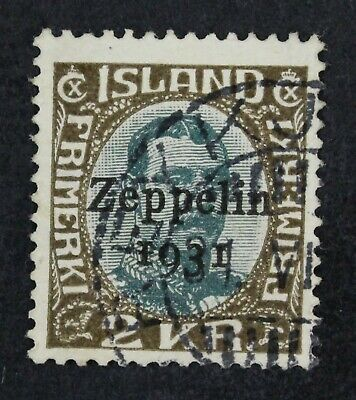 CKStamps: Iceland Stamps Collection Scott#C11 Used Lightly Crease
