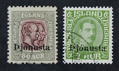 CKStamps: Iceland Stamps Collection Scott#O69 O70 Used