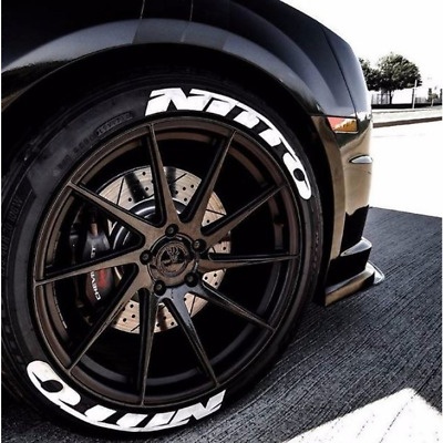 Nitto Tires Permanent (Long Term) Tire Lettering Stickers 8 Decal Kit Expedited