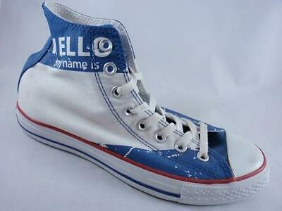 5116896dda22c2 CONVERSE Chuck Taylor All Star High Top White+Blue Canvas Unisex Sneaker  117342F