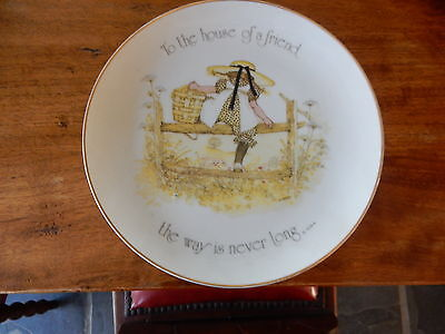 Vintage Holly Hobbie To The House Of A Friend Large Plate