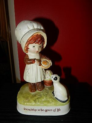 Vintage Holly Hobbie  Porcelain Figurine Friendship Is The Spice Of Life