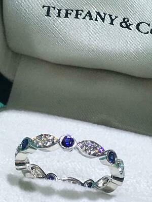 7aa440be1 TIFFANY & CO. Platinum Swing Jazz Ring Band with Pink Sapphires and ...