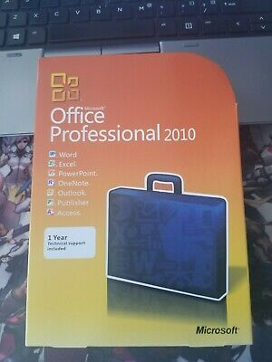 Sealed! Microsoft Office Professional 2010 Product Key Card+DVD 1 PC