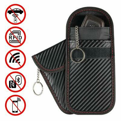 Carbon Grain Key Signal RFID Blocker Pouch Keyless Anti Theft Fob Protector