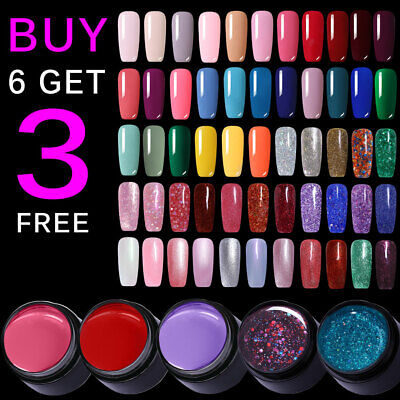LEMOOC Nail Art Gel Color Polish Soak-off UV/LED  DIY Varnish Purple Red