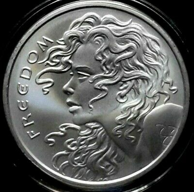 2018 Silver Shield 1 oz. FREEDOM GIRL BU Silver Round in Capsule! .999 Pure AG!!