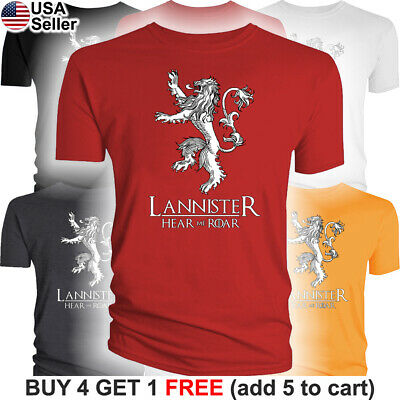 Game of Thrones T-Shirt House Lannister Hear Me Roar Lion Sigil Tyrion GoT Jaime