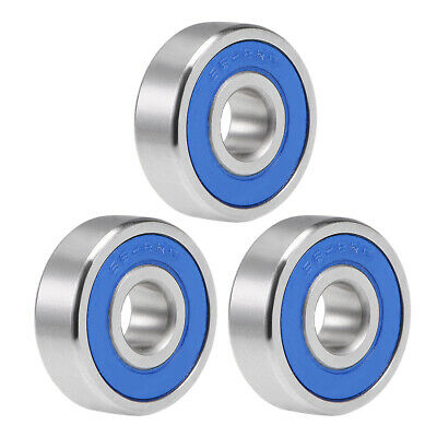 S628-2RS Stainless Steel Ball Bearing 8x24x8mm Double Sealed 628RS Bearings 3pcs