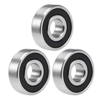 S6000-2RS Stainless Steel Bearing 10x26x8mm Double Sealed 6000RS Bearings 3pcs