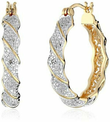 Shiny 18k Gold Filled White Topaz Dangle Drop Earrings Women Wedding Jewelry