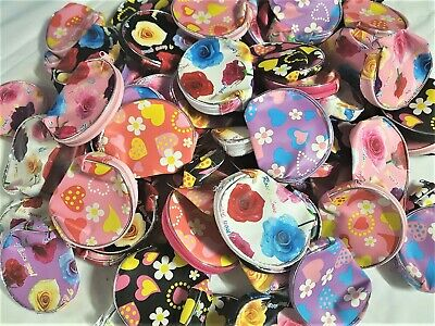 Bulk Lots 100pcs Mixed PVC Coin Purses 9 x 8cm Free Post