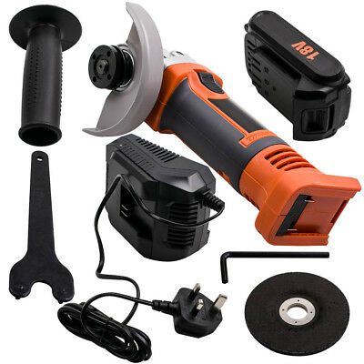 """HEAVY DUTY SILVERLINE 900 rpm 800W 4.5"""" 115MM 18v Battery ELECTRIC ANGLE GRINDER"""