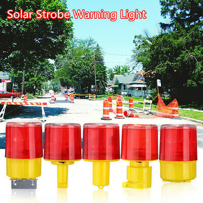 Car Solar Power LED Strobe Warning Alarm Security Flashing Flicker Beacon