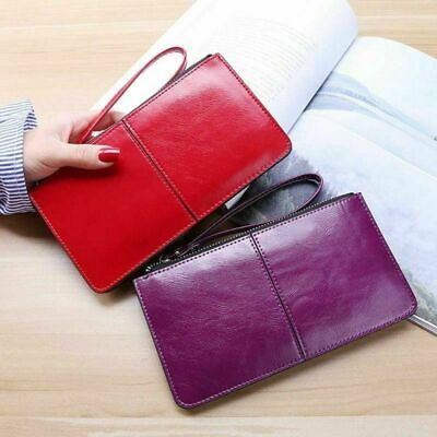 Women Solid Color Wallet Case Clutch Purse Long Handbag Card Holders Modern