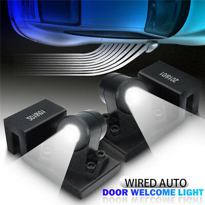 2pcs Wired Auto Door Welcome Rock Light LED Angel Wing Projector Lamp For