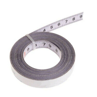 Miter Ruler Saw Tape Self Adhesive Backing Metric Steel 1/2/3/5M White 0.51inch