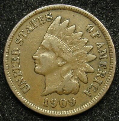 1909 Indian Head Cent VG Very Good (B02)