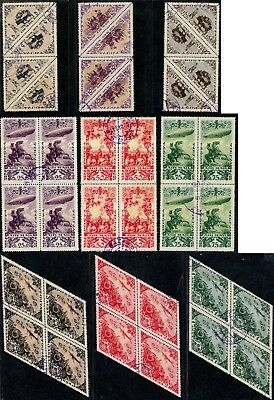 Tannu Tuva🐫13th issue. Year 1936. Sc. C10-8. Full set in bl.4. CTONHOG. EV$500+