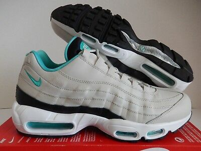outlet store 4faa1 10fdf Nike Air Max 95 Essential Light Bone-Sport Turquoise-Black Sz 12  749766
