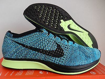 0a140246fd31 Men s Nike Flyknit Racer Blue Lagoon-Black-Polarized Blue Sz 12  526628-