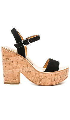 9b874c28fb3b Anthropologie Dolce Vita Black Randi Cork Platform Sandals Size 10 Black NEW